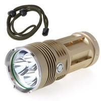 Wholesale Triple Cree XM L T6 LM Super Bright LED Flashlight Strong Torch Lamp Light