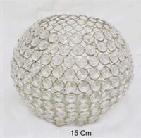 Wholesale 10 cm crystal glass votive candle holder for home wedding
