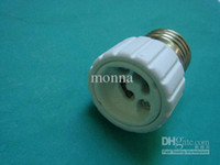 Wholesale 100pc On sale CE RoHS ceramics lamp base E27 to GU10 holder adapter Flame retardant O M