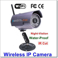 Wholesale Wanscam IR CUT Wireless WiFi Outdoor Waterproof Day amp Night Vision m IP Webcam Network Camera S610