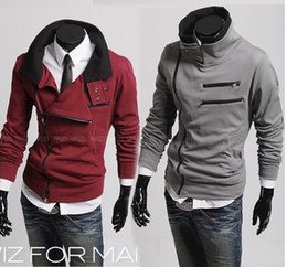 Wholesale Hot South Korea zipper Hoodie Rider Men s Jacket Men s Coat Sweat Shirt mens coat