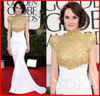 Wholesale new Mermaid High Collar Chiffon th golden globe awards Michelle Dockery red carpet Celebrity dress