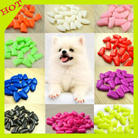 Wholesale Hot Sale Mixed Colors Soft Dog Cat Nail Caps Pets Silicon Nail Wrap Protector Pets Nail Art