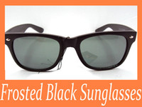 Wholesale 20pcs Women s Sunglasses Black color Plastic Frame mm Gray Green Glass Lens