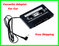 Wholesale 150pcs RA mm Car Vehicle Audio Stereo Cassette Tape Adapter for MP3 Player Phone Black