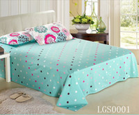 Wholesale Hotsale Much Colors Printed Flower Stripe Grid Bedding Set Bedding Sheet Bedspread