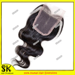 Wholesale Hot Selling AAAAA Grade Brazilian Remy Human Hair Extension Lace Closure Virgin Body Wave