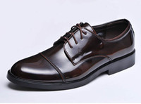 Wholesale Super Shine British Style Groom shoes men s wedding shoes leather shoes Prom shoes bridegroom shoes