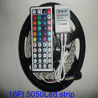 Wholesale 5M Flexible RGB LED Light Strip ft SMD M LEDs Waterproof Keys IR Remote Controller