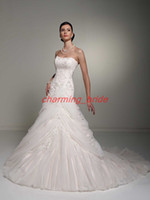 Wholesale 2013 Designer Princess Sweetheart Wedding Dresses A Line Wedding Gown Lace Beads Ruffle Chapel Train