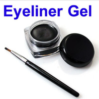 Wholesale Brand new Black Waterproof Eye Liner Eyeliner Gel Makeup Brush in a box t95