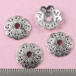 100pcs tibetan silver 12MM ornate flower beads caps H0768