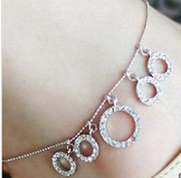 Wholesale SY Flash diamond circle ring anklets Barefoot Sandals