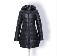 Wholesale New Fashion Women s plus size cotton padded jacket wadded down coat Med long4 color