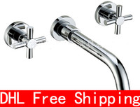 Wholesale DHL Bathroom Sink Faucets Bathroom Lung Tau basin mixer The split bathroom cabinet tap