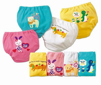 Wholesale EMS Free Baby Briefs Baby Owl Potty Training Pants Reusable Infant Learning Pants For T Pc