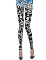 gothic - New Gothic Punk Leggings Wet Look Pants Stockings Fetish Skull Tights Slim Thin Pop Trousers Feet