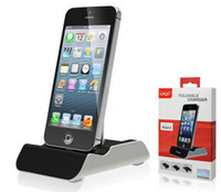 Wholesale 1A Cell Phone Metal Support Stand Charger for iPhone G Dock Charging with retail box