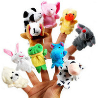Wholesale 100Pack Factory Supplied Cartoon Animal Finger Puppet Finger Toy Finger Doll Baby Doll