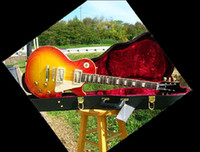 6 Strings best body washes - best Mahogany guitar Custom Shop Reissue Flame Top Gloss Washed Cherry electric guitar