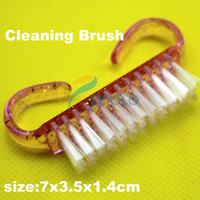 Wholesale 400x Plastic Handle Pink Nail Art Dust Clean Cleaning Brush Manicure Pedicure Tool Nail Salon SKU F0082XXXX
