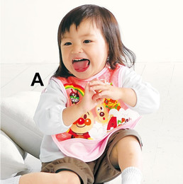 Wholesale Anpanman Baby Bibs Waterproof Sleeveless Overclothes Baby Accessories Blue Yellow Pink