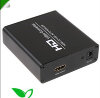 Wholesale FEDEX Free HD Video Converter PC HDTV HDMI to VGA Converter Scaler Auto HD Video Adapter