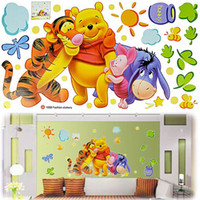 PVC winnie the pooh - Children Baby Carton PVC Wall Sticker Winnie The Pooh Wall Decal Wallpaper Room Sticker House Sticker