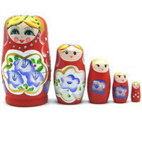 Wholesale Russian Nesting Dolls Matryoshka Doll Toy handmade Wooden toys Russian toys