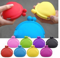 Wholesale Color Candy Silicone Japanese Style Wallet Cosmetic Bag Key Case Coin Case Purse