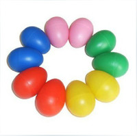 Wholesale Orff instruments colorful plastic toy eggs sand eggs maracas Choose the color