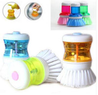 Wholesale Palm Dish Brush with Washing Up Liquid Soap Dispenser Storage Set