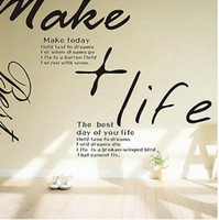 Wholesale makelife simple word wall stickers living room bedroom backdrop paste olive trees wall art sticker