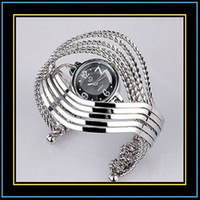 Wholesale Fashion Wrist Watch Wave Bangle Watch Bracelet Hinged Stunning watches Retail sale Ramdon Shipment