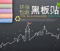 Wholesale 45x200cm Blackboard Wall Sticker Removable Vinyl Chalkboard Wall Decal Kids Early Education