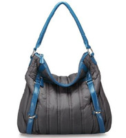 Wholesale JUST STAR down with PU python grain shoulder bag leisure fashion ladies bag the peacock blue