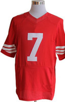 #7 Red Elite Jersey American Football Jersey Rugby Ball Jers...
