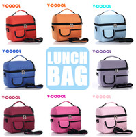 Wholesale 8L picnic lunch bag insulated cooler bag two compartments lunch box colors optional
