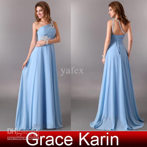 Grace Karin New Sexy Beaded One Shoulder Cocktail Dress Chiffon A ...