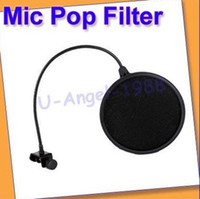 Wholesale Studio Microphone Mic Wind Screen Pop Filter Mask Shied Black