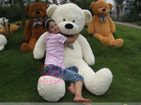 achat en gros de ours en peluche blanc géant-200cm Giant Huge Big Soft PP Coton Plush Sleepy Teddy Bear Toy Doll blanc