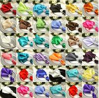 Wholesale wedding satin napkins wedding decoration napkins mouth cloth colorful napkin colors can be chose