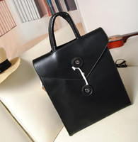 Wholesale Womens Briefcases Fashion Bags Ladies Totes Bags New Europ Type Charming Black Leather Bags Hot Sale