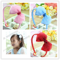 Hair Clips Silk Floral New Baby Flower Hair Clips Jewelry 4-color Children's Candy Color Chiffon hair bands Girls Hair Ties