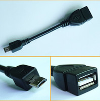 Wholesale Hot Selling Micro USB B Male To USB A Female OTG Cable Tablet PC Cable Iphone Cable