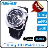 4GB--32GB    4-32GB H.264 Real HD 720P Hidden Mini Spy Watch Video Camera from asmiler