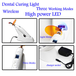 Wholesale Dental W Wireless Cordless LED Curing Light Lamp Dental Curing Light Three Working Modes High Power