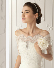 Wholesale 2013 Off Shoulder Romantic Short Sleeve White Lace Bolero Wedding Jackets Bridal Wraps