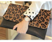 Wholesale New Design Women Girl Fashion Clutch Purse Leopard Envelope Shoulder Bag