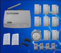 gsm alarm security - 8 door sensors GSM wireless home security alarm system S209
